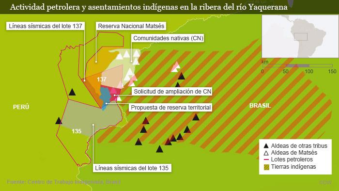 Los matsés o mayorunas brasileños habitan en la Reserva del Valle del Javarí para pueblos indígenas no contactados, demarcada en 1988 tras una campaña de Survival Internacional.