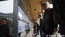 Zagreb,Croatia,March 2009.-In front of the Central Employment Office in Zagreb. The loss of jobs forced many employees to look for another job. Svakodnevna guzva na Zavodu za zaposljavanje. Ognjen ALUJEVIC