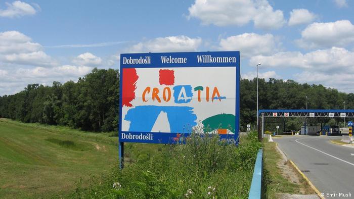 Grenzübergang zwischen Kroatien und Bosnien (Foto: Emir Musli)