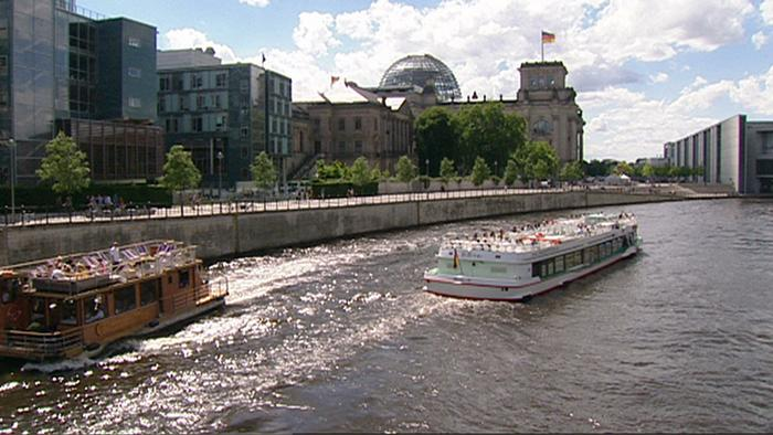 berlin - cityscape seen from the river