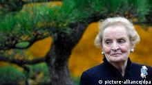 Former American Secretary of State with Czech origin Madelaine Albright plants Japanese Black Pine in Prague Botanical Garden within the project Roots of personalities in Prague, Czech Republic, October 25, 2012. (CTK Photo/Vit Simanek)