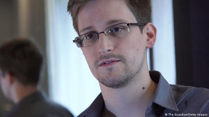 HONG KONG - 2013: (EDITOR'S NOTE: ONLY AVAILABLE TO NEWS ORGANISATIONS AND NOT FOR ENTERTAINMENT USE) In this handout photo provided by The Guardian, Edward Snowden speaks during an interview in Hong Kong. Snowden, a 29-year-old former technical assistant for the CIA, revealed details of top-secret surveillance conducted by the United States' National Security Agency regarding telecom data. (Photo by The Guardian via Getty Images)