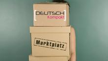 DW Sprachkurse Deutschkurse Marktplatz Infografik