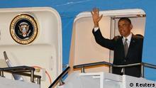 Barack Obama Ankunft in Südafrika