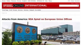 Screenshot Spiegel Online Englisch Startseite vom 30. Juni 2013
