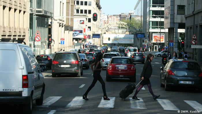 Rue Belliard in Brussels filled with traffic