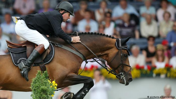 CHIO Springreiten Aachen Nick Skelton auf Big Star