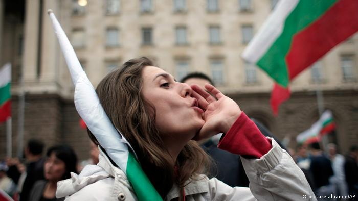 Bulgarien Kungebungen gegen die Regierung