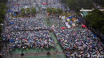 China Hongkong Protestmarsch gegen chinesische Führung