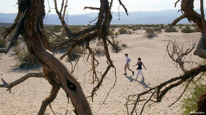 USA Wetter Hitzewelle in Kalifornien Touristen Death Valley