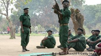 Mosambik Renamo Rebellen in den Bergen von Gorongosa