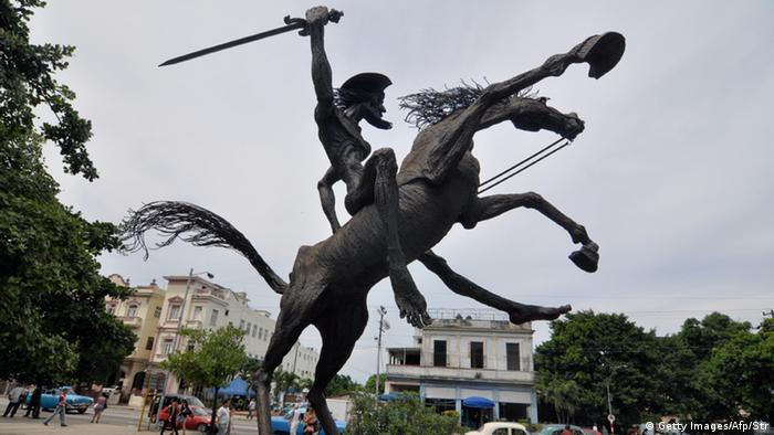 Don Quijote Statue in Havana