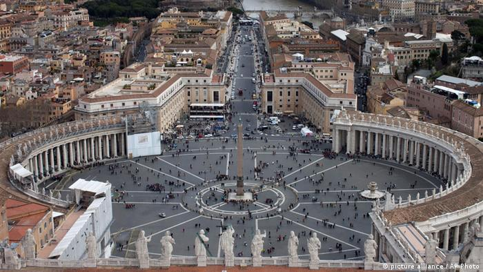 A view of St. Peter's Square and the city of Rome as seen from the top of St.Peter's Basilica, at the Vatican, Thursday, March 14, 2013. Argentine Cardinal Jorge Mario Bergoglio chose the name of Pope Francis, after he was elected the 266th pontiff of the Roman Catholic Church on Wednesday, March 13, at the Vatican.(AP Photo (AP Photo/Oded Balilty)