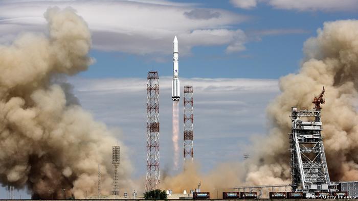 Запуск ракеты Протон-М на Байконуре