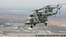 Russland Helikopter im Einsatz