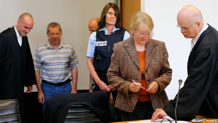 Accused Russian spies in court on July 2, 2013 in Stuttgart, Germany.