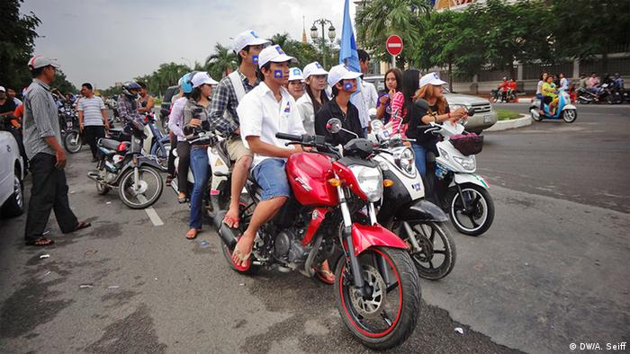 Opposition Cambodia National Rescue Party's election campaigning (Photo: DW / Abby Seiff)