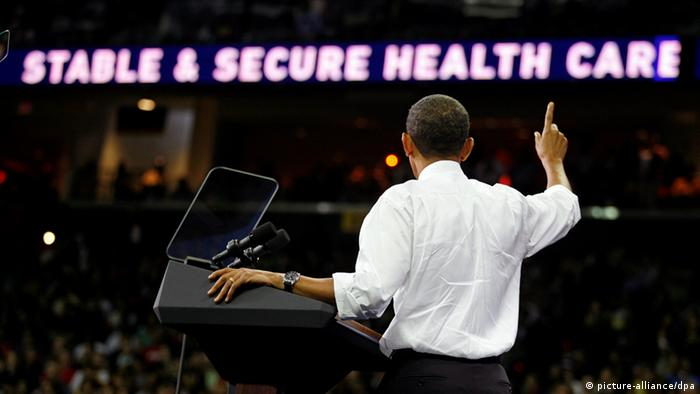 United States President Barack Obama speaks on the need for stable and secure health care during a rally at the University of Maryland?s Comcast arena, College Park, Maryland, Thursday, September 17, 2009..Credit: Martin H. Simon +++(c) dpa - Report+++