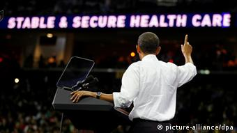 Barack Obama während einer Rede zur Gesundheitsreform (Foto: picture-alliance/dpa)