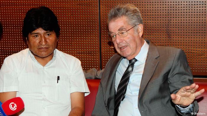 Morales und Fischer PK Wien Flughafen 03.07.2013