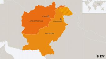 Karte Afghanistan Pakistan EN