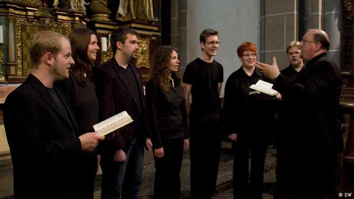 Stefan Klöckner and the Vox werdensis ensemble Copyright: Klaus Dahmann 18.6.2013