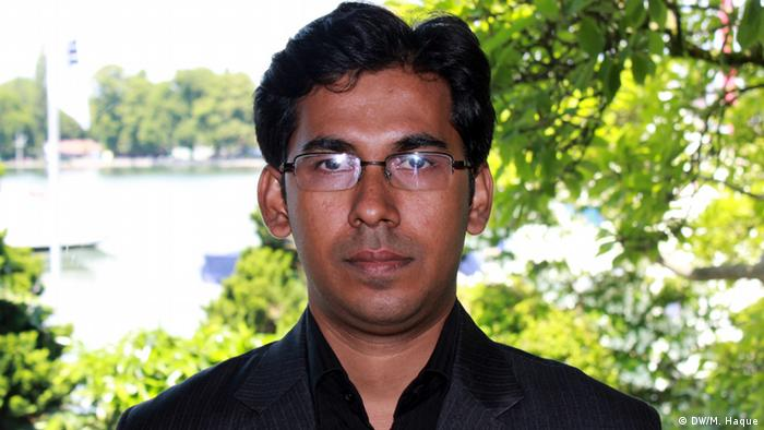 Taslim Rashid, a young scientist from Bangladesh attended 63rd Lindau Nobel Laureate Meetings 2013. DW/Mohammad Zahidul Haque