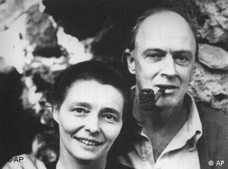 Roald Dahl and his wife Patricia Neal