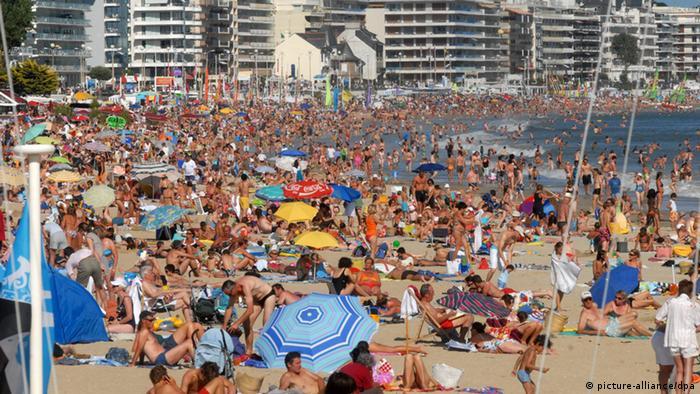 Переполненный пляж
