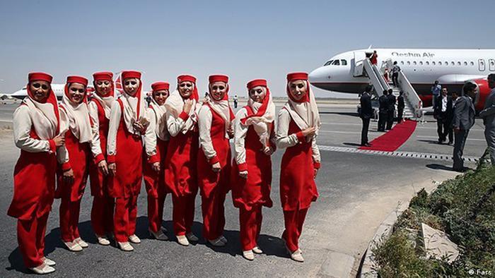 بانوان ایران در مراسم گشایش قشم ایر توسط بابک زنجانی