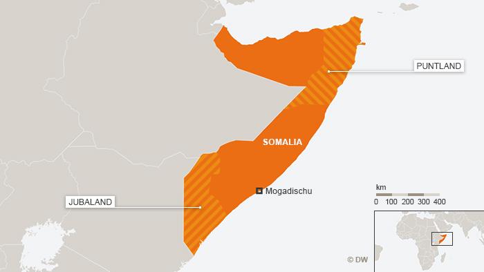 Infograph depicting Jubaland, Somalia and Puntland