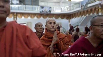 Buddhist monks from across Myanmar gathered to explore ways to ease religious tensions, after some of them were implicated in attacks on Muslims. (Photo: Ye Aung Thu/AFP/Getty Images)