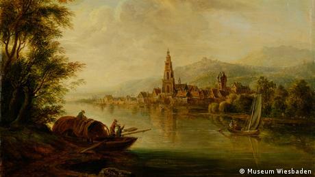 Christian Georg Schütz der Ältere, Ansicht von Eltville, 1774, Museum Wiesbaden