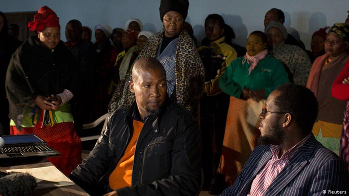 Nelson Mandela's grandson Mandla, during a court hearing.