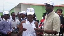 Der Minister für Jugend und Sport von Angola (MJD), Gonçalves Muandumba Nelson Sul D'Angola, Juli 2013 in Benguela/Angola
