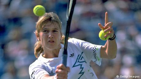 Deutschland Tennis Steffi Graf bei US Open 1988 (Getty Images)