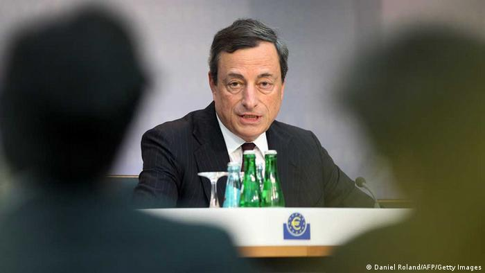 Mario Draghi, President of the European Central Bank, ECB addresses a press conference following the meeting of the Governing Council in Frankfurt am Main, central Germany, on July 4, 2013. (Photo: DANIEL ROLAND/AFP/Getty Images)