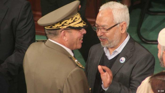 Photo title: Rachid Ammar and Rached Ghannouchi in the constitutionnel assembly Place and Date :November 2011, Tunisia Copy Right/ Photographer: DW-Korrespondent Taieb Kadri