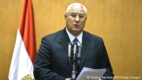 Transitional President Adly Mansour (Photo: AFP/GettyImages)