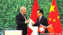 China Schweiz Unterzeichnung Freihandelsabkommen Schneider-Ammann Gao Hucheng