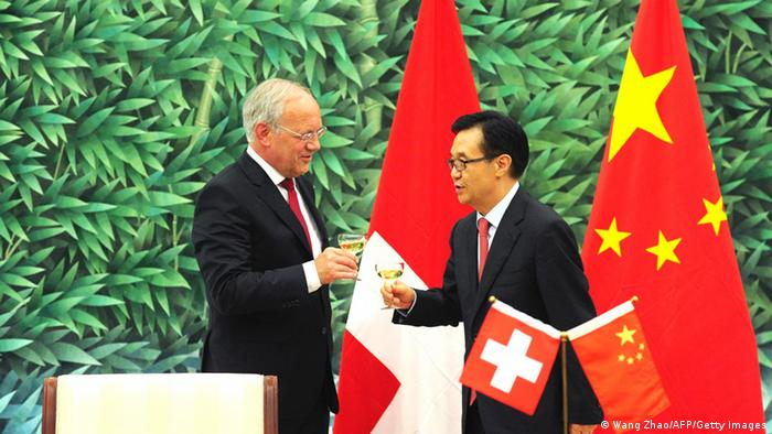 Signing of the Chinese-Swiss free trade agreement