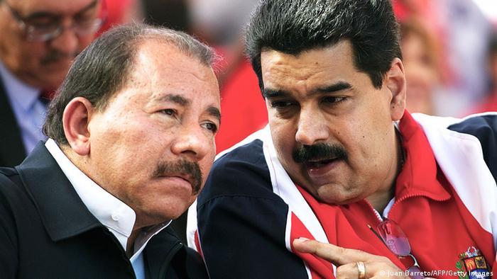 Nicaraguas Präsident Daniel Ortega und Venezuelas Präsident Nicolas Maduro