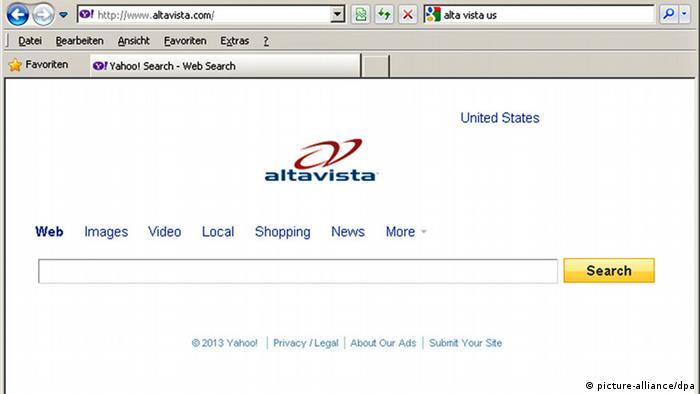 Yahoo-Suchmaschine Altavista wird abgeschaltet (picture-alliance/dpa)