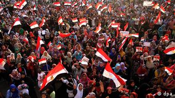 Opponents of ousted Egyptian President Mohamed Morsi celebrate at Tahrir Square in Cairo, Egypt, on July 06, 2013. Ahmed Ismail / Anadolu Agency