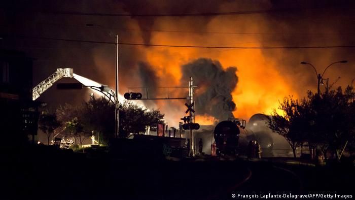 Zugunglück Kanada Quebec Explosion