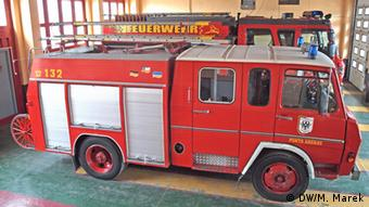 Fire engine of Punta Arenas with German writing (Photo: Michael Marek.)