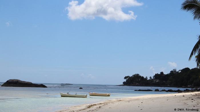 Plaza cerca de Beau Vallon, en las islas Seychelles.