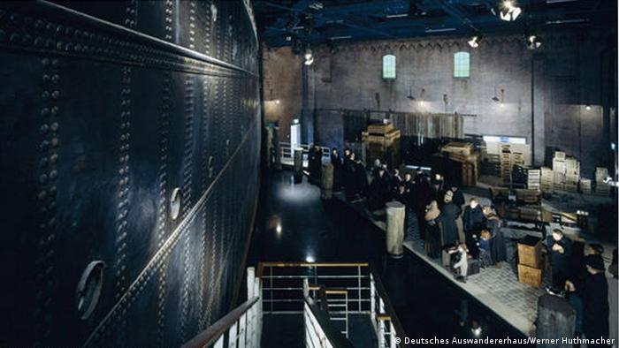 Инсталляция в бремерхафенском Музее эмиграции