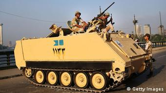 Egyptian tank (Photo by Spencer Platt/Getty Images)