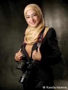 Raeda Hamra - Journalist. Copyright: Raeda Hamra via Hassan Znined, DW